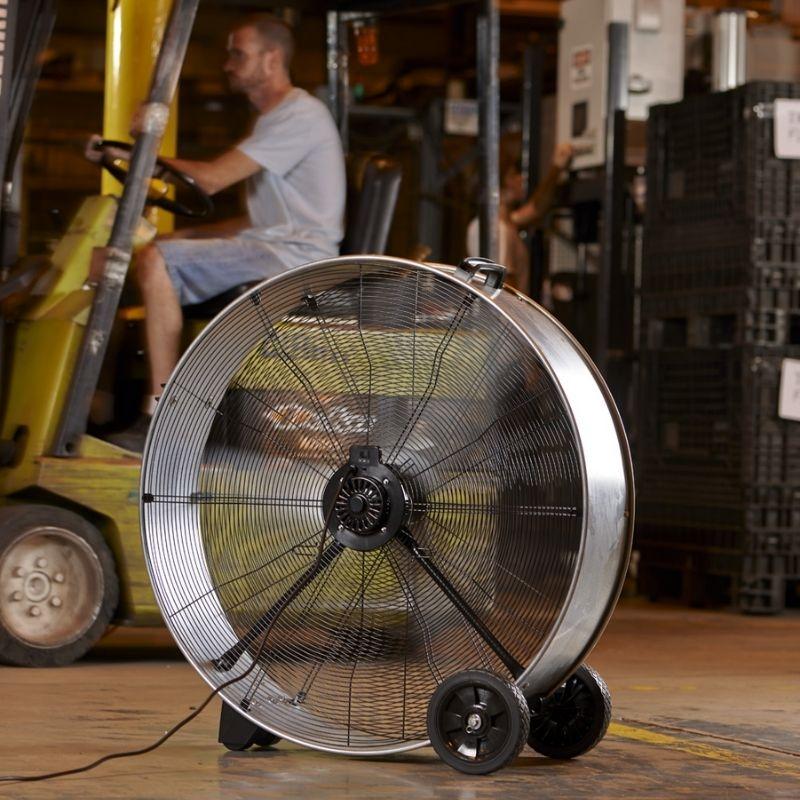Ventilador de tambor con asa y ruedas Galvanizado Shop Air